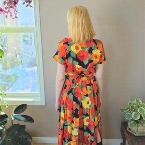 Vintage Steilmann Germany floral maxi dress.
